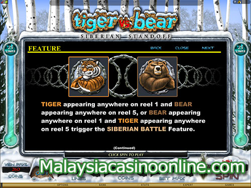老虎机和熊老虎机 (Tiger and Bear Slot) - Bonus